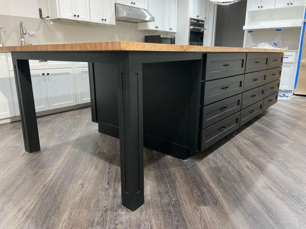 Black Island with table built in